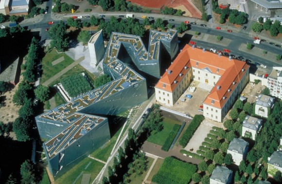 2Juedisches Museum Berlin Jewish Museum Berlinaerial luftfoto 580x380 Jdisches Museum/Joods Museum Berlijn opent nieuwbouw